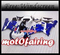 motofairing -BLUE White Bodywork fairing kit FOR GSXR 600 750 2001 2002 2003 GSXR600 GSXR750 01 02 0