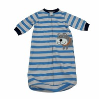 1pcs Free shipping comfortable and soft fleece carters striped baby sleeping bag  Sleepsacks for infant boy