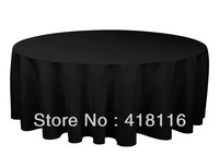 "free shipping 5PCS 132"" black tablecloth"