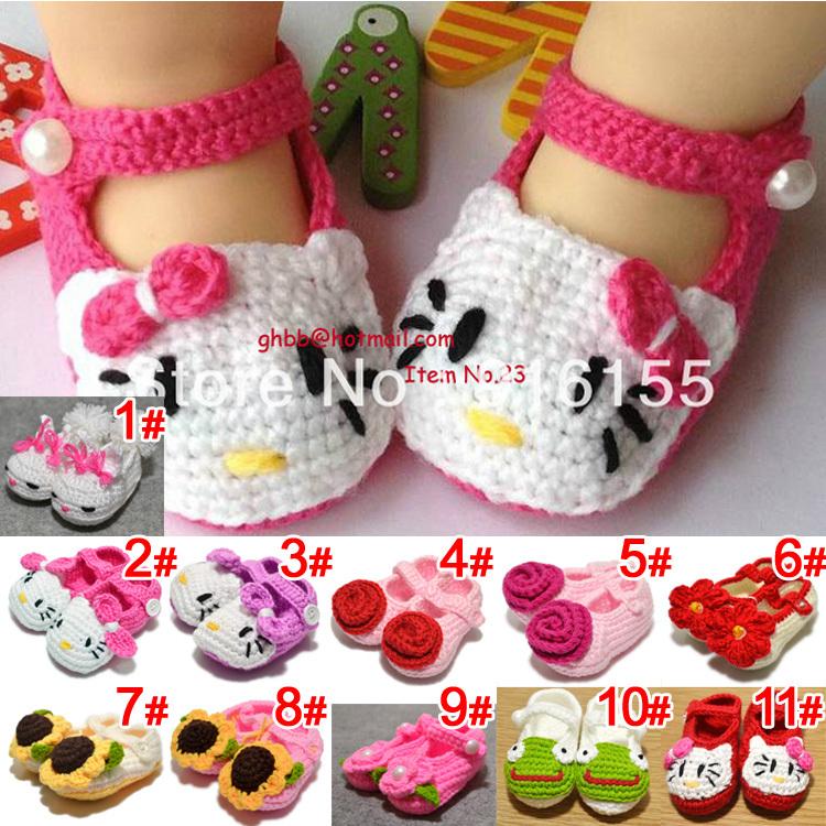 sapatos-de-bebê-bonito-crochê-tricô-sapatos-de-lã-para-crianças