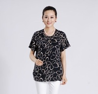 New arrival quinquagenarian female t-shirt summer short-sleeve T-shirt short-sleeve shirt top women's summer