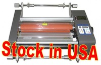 13.4'' Hot Cold Roll Laminator Laminating Machine Stock in USA now.