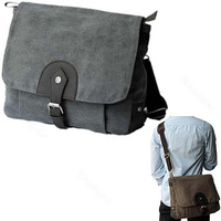 New Fashion Men Vintage Canvas Shoulder Messenger Satchel Strong Bag 2 Colors