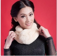2012 fur scarf rex rabbit hair cold thermal muffler scarf autumn and winter scarf