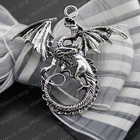 (J-M3470)Fashion Jewelry Findings Accessories Vintage charm pendant Alloy Antique Silver 47*43MM Dragon 10PCS