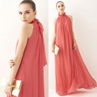 2013 dresses brand Fashion bohemia 2013 full dress chiffon one-piece dress slim bridesmaid dress