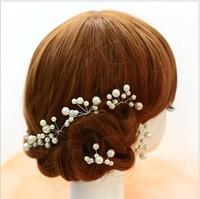 Wholsale Korean pearl bridal white hairwear head flower wedding short hair jewelry wedding accessories small hairpin