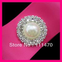 Hot sell! 200pcs 30mm Pearl&Rhinestone Cluster for Wedding Invitation, Rhinestone Embellishment,wholesale!