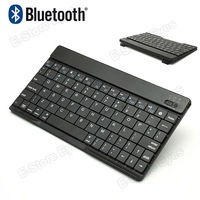 hk free shipping 1pc/tvcmall Black Mini Slim Wireless Bluetooth Keyboard for iPhone iPad Samsung N7100 I9300 Galaxy Tablets