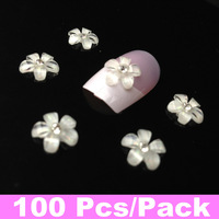 100pcs/pack 3D Nail Art Resin Perfect Nail Art Decoration + Free Shipping