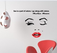 Free Shipping marilyn monroe wall stickers t decoration wall stickers