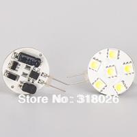 Free Ship LED G4 Circle Light 12VDC 6Leds of SMD 5050 Dimmable White Warm White 1w