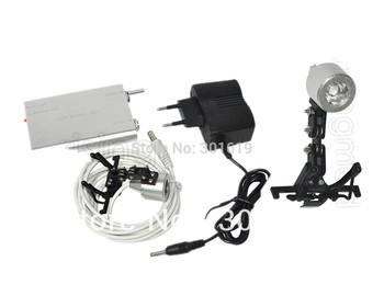 Portable Head Light Lamp for Dental Medical Binocular Loupes + clip hook base