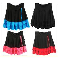 13 square dance clothes Latin dance skirt hypertensiveperson skirt dance dress belt safety pants legging