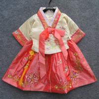 Female child one-piece dress set national clothes child clothes dance clothes