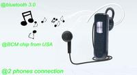 High quality mini wireless V3.0 bluetooth headset headphone with microphone for Iphone5 4s samsung S3 4 IPAD4-3 LG HTC earphone