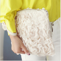 2013 women's handbag lace rose day clutch brief fresh bag casual bag clutch big bag