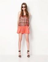 FS1781  fashion brief fashion pleated women's skorts elastic waist wdk9694