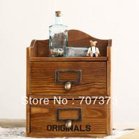 Hot Desktop jewelry cosmetics perfume storage cabinet wool vintage drawer storage cabinet zakka 1 pcs