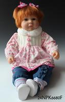Lovely lifelike baby girl 55cm Reborn baby Soft silicone vinyl handmade real baby size 24NPK6280F