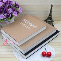 Fashion vintage brief hardcover sketchbook thick notepad notebook blank 32k