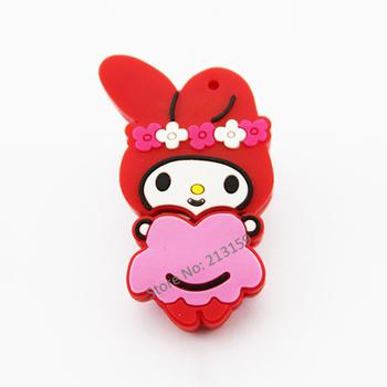 Retail cartoon flower sweet girl USB Flash Drives thumb pen drives memory stick disk gift 2GB 4GB 8GB 16GB 32GB + Free shipping