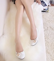 2013 spring bow rhinestone flat heel single shoes female shoes flat shoes casual shoes