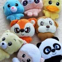 Free Shipping Animal coin purse small storage bag plush toys decoration