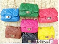 Children colored satchel bag lady cute style fashion leather messenger bag shoulder bag satchel Family bag
