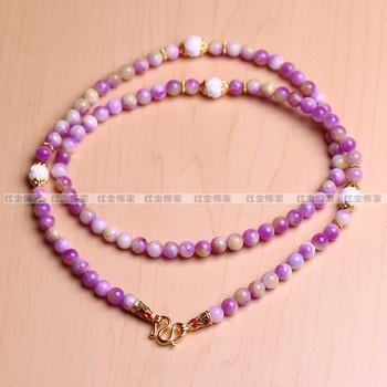 Chain buddha chain natural yellow chalcedony necklace mandarin duck chalcedony enamel buckle