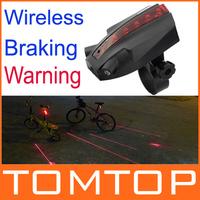 New! Original Owimin Intelligent LED Bicycle Laser Taillight Bike Rear Light Logo Projection+Wireless Braking Warning+Auto off