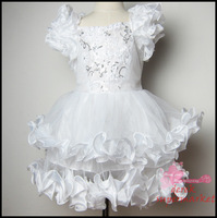 Free shipping 2013 hot sell 1pcs baby girl summer wear,girl princess dress ,girl party dresses white girl formal dress