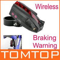 New arrival! Owimin Intelligent Bicycle Laser Tail light LED Bike Rear Light Wireless Braking Warning Brake Version