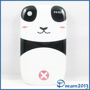 New Cartoon Black Whit White Panda Girl Hard Back Case Cover Skin For Blackberry Curve 8520(China (Mainland))