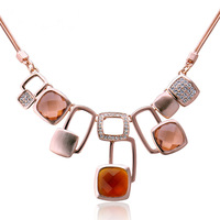 2014 Fashion Present Accessories Rubik's Cube Necklace Rose Gold Plating Bohemia Paragraph Valentine's Day Gift