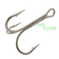 100 pcs 2.8cm sliver high carbon steel fishing triple hooks treble hooks 3551 2# O'shaughnessy
