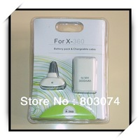 Free shipping ! For Xbox360 Game Wireless Controller 3600mAH Battery + Charger  / nick