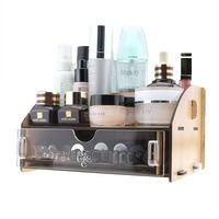 FreeShipping Diy acrylic cosmetic desktop storage box storage box wool single tier storage drawer