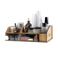 FreeShipping Acrylic cosmetics storage box Large wool desktop storage box small drawer