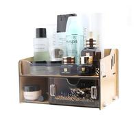 FreeShipping Acrylic cosmetics desktop storage box storage box storage drawer wool
