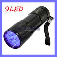 UV Ultra Violet Purple Light 9 LED Flashlight Torch Light