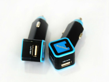 LED logo dual USB output 15W Car Charger for iphone5,ipad mini,iPad,galaxy,blackberry,tablets PC,Moto,LG,HTC