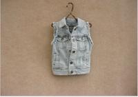 OW3031  boys denim vest cardigan ,waistcoat 5pcs/LOT