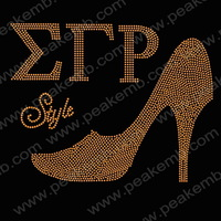 Iron On Bling Greek Letter ETP High Heel Style Transfer 30pcs/Lot Free Shipping Rhinestone Motifs Custom Design Is Welcomed
