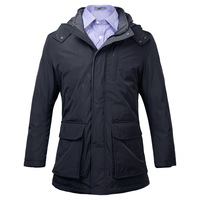 Free shipping wholesale men's winter clothing leather white duck down quality down coat outerwear
