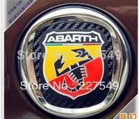 fiat 500 emblem red scorpion car sticker