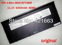 Original battery for MSI X-Slim X600 X610 BTY-M69 BTY-M6A NBPC623A/black