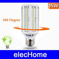 15W E27 60 LED Warm Pure White 5630 SMD Energy Saving LED Corn Light Lamp Bulb AC 210V-240V 220V 230V 240V Free Shipping