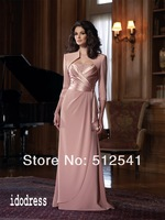 Half sleeves With Jecket  Mother of Bride Dresses 2013 Best Selling Sheath Bateau Satin Beads yk-8E58