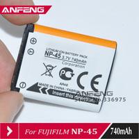 2PCS/LOT High Quality 740mah for Fujifilm NP-45A NP-45 Battery For J10 J25 J35 Z300 Z31 Z71 Z707EXR JX255